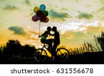 silhouette of two beautiful... | Shutterstock . vector #631556678