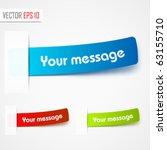 multicolored stickers. vector | Shutterstock .eps vector #63155710