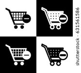 vector shopping cart with... | Shutterstock .eps vector #631561586