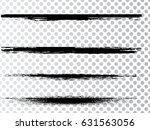 grunge paint stripe . vector... | Shutterstock .eps vector #631563056
