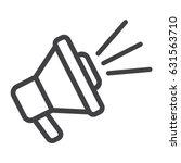 loudspeaker line icon ... | Shutterstock .eps vector #631563710