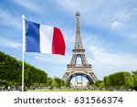 French Flag Flying In Bright...