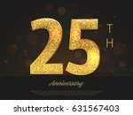 25th anniversary decorated... | Shutterstock .eps vector #631567403