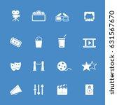 cinema icons | Shutterstock .eps vector #631567670