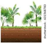 seamless background with palm...   Shutterstock .eps vector #631568783