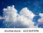 cloud storage and network | Shutterstock . vector #631569398