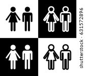 male and female sign. vector....   Shutterstock .eps vector #631572896