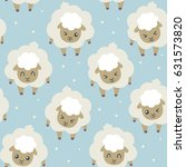 vector sheep for sleeping blue... | Shutterstock .eps vector #631573820