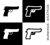 gun sign illustration. vector.... | Shutterstock .eps vector #631574126