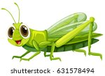 Grasshopper With Happy Face...