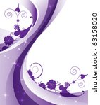 Wavy Purple Background With...