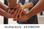 hands together group  soft... | Shutterstock . vector #631580240