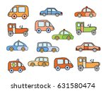 set of toy sketches of car... | Shutterstock .eps vector #631580474