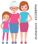 family portrait daughter mother ...   Shutterstock . vector #631588994