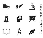 set of 9 editable university...