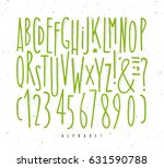 alphabet set straight lines... | Shutterstock .eps vector #631590788