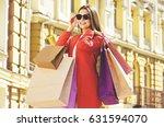 successful purchases. portrait... | Shutterstock . vector #631594070