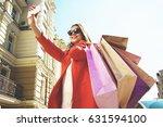 selfie time. portrait of... | Shutterstock . vector #631594100