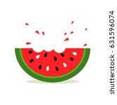 watermelon icon in a flat style....
