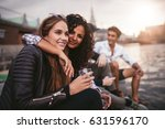 shot of young women friends... | Shutterstock . vector #631596170