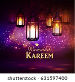 intricate arabic lamps with... | Shutterstock .eps vector #631597400