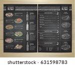 chalk drawing restaurant menu... | Shutterstock .eps vector #631598783