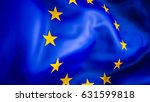 europe flag. 3d waving flag... | Shutterstock . vector #631599818