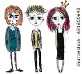 teenagers group. fashion young...   Shutterstock . vector #631600643