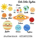 cute galaxy  space  solar... | Shutterstock . vector #631601336
