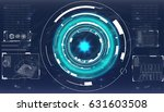 radar screen. vector... | Shutterstock .eps vector #631603508