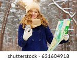 beautiful young smiling girl... | Shutterstock . vector #631604918