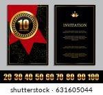 luxury template  logo set of... | Shutterstock .eps vector #631605044