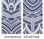 set of maori style ornaments.... | Shutterstock .eps vector #631607666