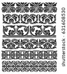 set of floral vector borders ... | Shutterstock .eps vector #631608530