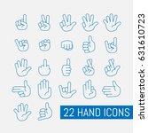 thin line hand icons set....   Shutterstock .eps vector #631610723