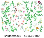 big floral collection.... | Shutterstock .eps vector #631613480