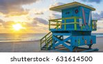 beautiful miami south beach... | Shutterstock . vector #631614500