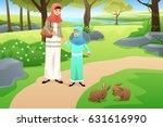a vector illustration of muslim ... | Shutterstock .eps vector #631616990
