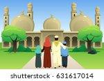 a vector illustration of muslim ... | Shutterstock .eps vector #631617014