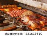 brazilian churrasco | Shutterstock . vector #631619510