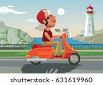 happy smiling old woman... | Shutterstock .eps vector #631619960