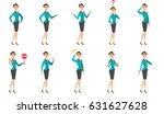 caucasian business woman... | Shutterstock .eps vector #631627628