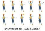 african american builder in... | Shutterstock .eps vector #631628564