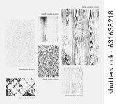 set of vector wooden and... | Shutterstock .eps vector #631638218