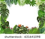 vector tropical jungle... | Shutterstock .eps vector #631641098