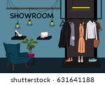 vector clothes storefront... | Shutterstock .eps vector #631641188