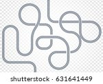 railway line  labyrinth and... | Shutterstock .eps vector #631641449