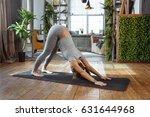 young woman in homeware... | Shutterstock . vector #631644968