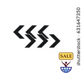 arrow indicates the direction ... | Shutterstock .eps vector #631647350