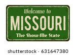 welcome to missouri vintage... | Shutterstock .eps vector #631647380